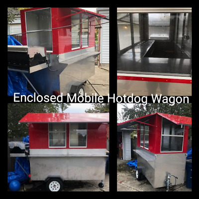 New Enclosed 2018 - 4' x 8' Hot Dog Vending Cart / New Mobile Food Unit for Sale