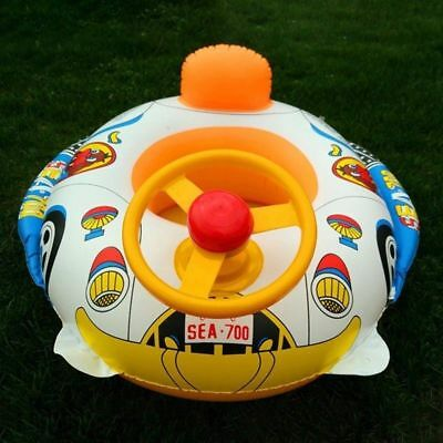 Inflatable Car Baby Kids Toddler Swimming Pool Float Seat Boat Ring#gsy