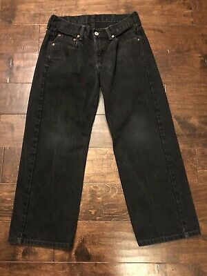 Levis 550 Relaxed Fit Boys Jeans Size 10H Husky 30W x 25L Black