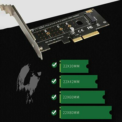 M.2 NVMe SSD NGFF TO PCIE 3.0 X4 adapter M Key interface card Full speed 6Gbps I