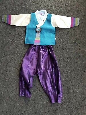 Korean Tranditional Costume Outfit Cothing Boys Hanbok / size 4 (105 cm tall)
