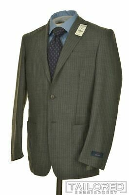 NWT $1198 - BROOKS BROTHERS Regent Gray Striped WOOLl Jacket Pants SUIT - 38 S