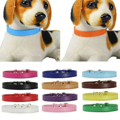 Pet Dog Rope Training Leash Lead Strap Traction Leather Collar 1.0*30cm 1.5*37cm