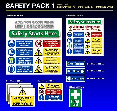 Construction Signs 10 Pack - Building Site - Free Company Name or LOGO