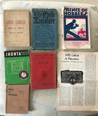 Collection Of Vintage Photography Camera Books