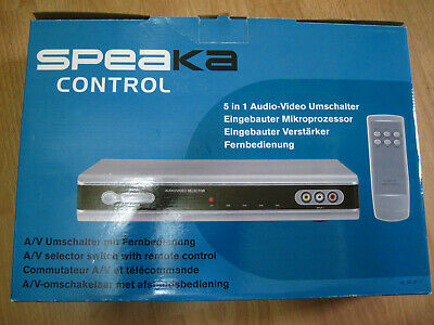 Speaka Control 5-in-1 A/V Selector Switch with Remote Control (Used) (Boxed)