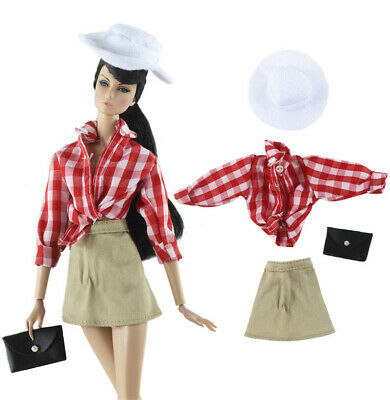 Doll 3in1 Fashion Clothes//outfit Top+skirt+bag For 11 in
