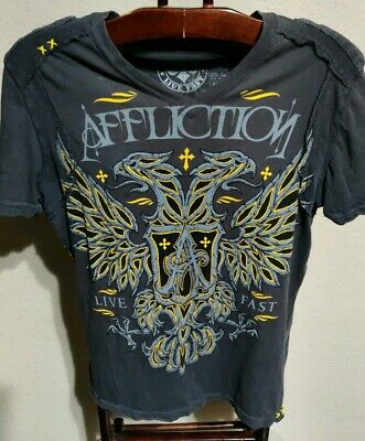 Affliction Live Fast T-Shirt (Mens Small-Made In USA)
