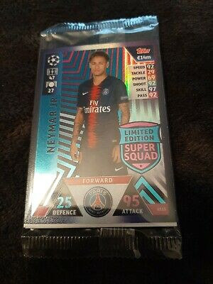 Match Attax 2018/2019 18 19 Champions League Neymar Limited Edition Super Squad