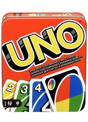Mattel Games UNO: Classic (Tin Box) [EXCLUSIVE] with 112 Cards and Instructions