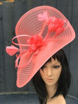 Peter Bettley Coral Wedding Hatinator Hat Mother Of The Bride Formal Occasion