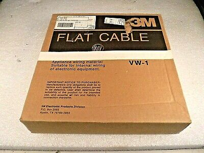"3M 1700/36 100SF Twisted Pair Conduit Flat Ribbon Cable (100 Ft) ""NEW"""