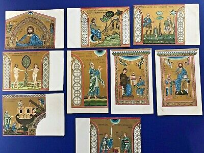 9 Mint Religious Antique Postcards. Early 1900s. Collector Items w Value. Set