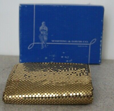WHITING DAVIS METAL MESH LADIES WALLET MULIPLE COMARTMENT NEVER USED VINTAGE Lg