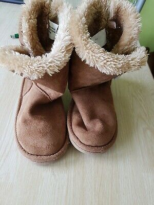 Girls Brown Suede Booties Size 12