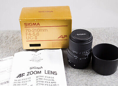 Mint Boxed Sigma Zoom Lens 70-210mm f4-5.6 UC-II - Canon AF Mount - Tested