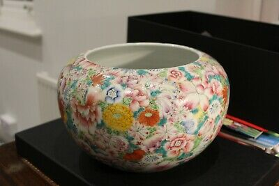 Early 20th century Chinese famille rose porcelain brush washer #201821