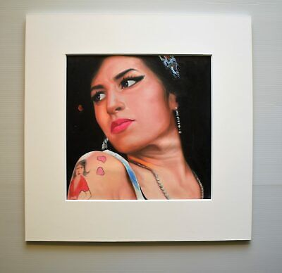 Amy Winehouse Painting Mitch Brookman Oil on Canvas Painting RARE