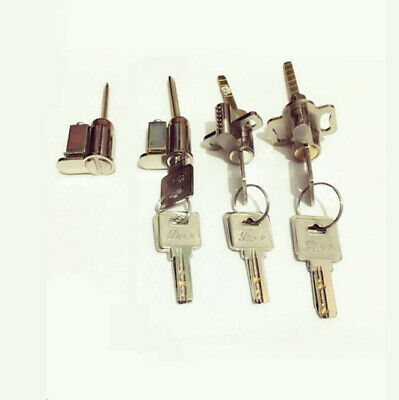 Sliding Glass Door Lock Key Cylinder Solid Brass or Zinc Core With 3 Keys New