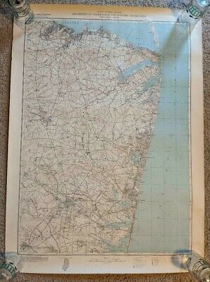1950 New Jersey Shore Dept Conservation & Development Topographic Map Railroads