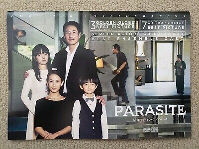 "FYC Bong Joon Ho's Parasite Movie 10x7"" Color Booklet, Magazine Song Kang Ho"