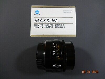 Sony A Mount Minolta 28mm F2.8 AF Prime Lens. Great Shape!!!