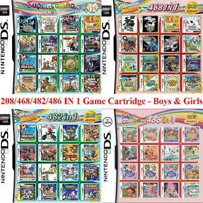 208/468/482/486 IN 1 Game Cartridge Multicart Boy&Girl For Nintendo DS 3DS 2DS