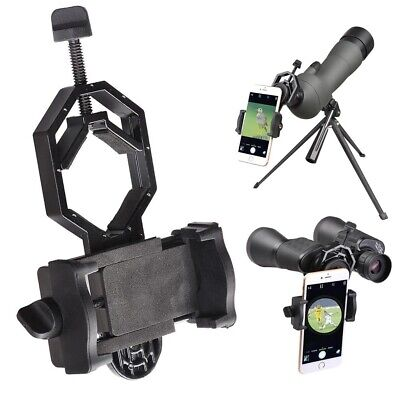 Telescope Spotting Scope Microscope Mount Holder Mobile Phone Camera Adapter US