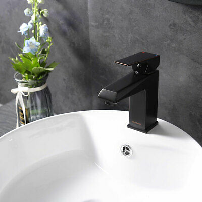 "6"" Bathroom Sink Faucet Vanity Basin Square Mixer Tap Single Handle Oil-Rubbed"