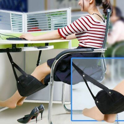 Foot Rest Hammock Portable Airplane Stand Desk Feet Adjustable Hanging Rope Cozy