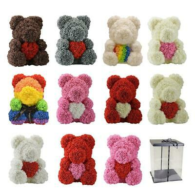 2020 New Lovely Rose Flower Bear Toys Teddy Birthday Valentine Lovers Gifts