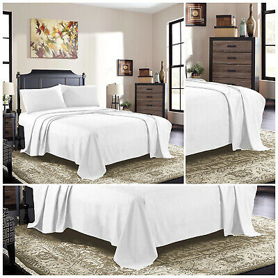 Full Flat Sheet Egyptian Cotton Hotel Quality Bed Sheets Single Double King Size