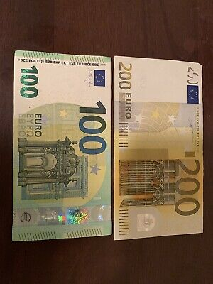 REAL NEW 100 EURO BANKNOTE BILL ISSUE-MAY-2019-ECZ-EUROPEAN-CENTRAL BANK UNC