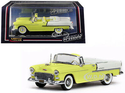 Chevrolet Bel Air Modell 1955 mit Hard Top Glacier Blue Maßstab 1:43