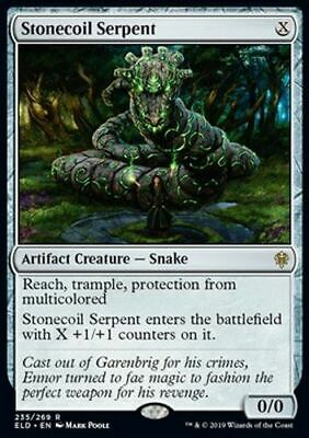 *Magic MtG: Stonecoil Serpent (Rare) - Throne of Eldraine *TOP*