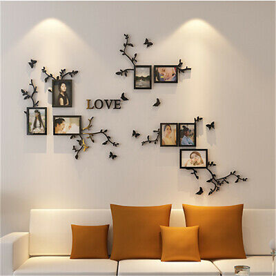 3D Love Family Photo Frame Sticker Wall Collage Picture Art Home Wedding  ~