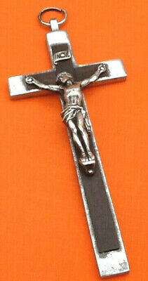 Large Pendant Antique cross of Jesus Christ Years 1930