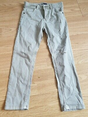 boys pair of stone coloured distressed jeans age 6 years from next
