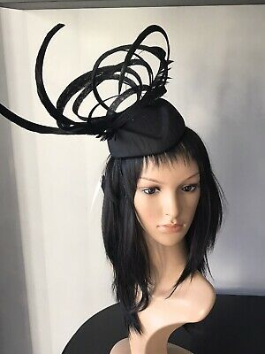 PETER BETTLEY BLACK WEDDING FASCINATOR Mother Of The Bride Hat OCCASION