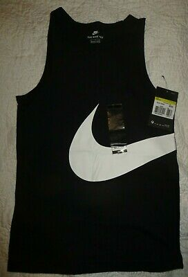 Boys Or Girls Unisex Black Nike Vest Top  Age 8-10 Years Brand New With Tag