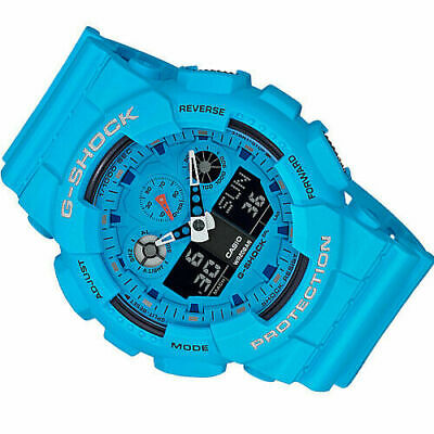 G-Shock by Casio Men's Limited Edition GA100RS-2A Analog-Digital Watch Blue