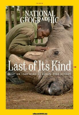 National Geographic magazine Oct 10/2019 What we lose when an animal goes