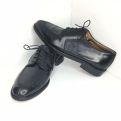 Vito Rufolo Shoes Mens Split Toe Oxfords Black Leather Lace Up 4337-02 Italy