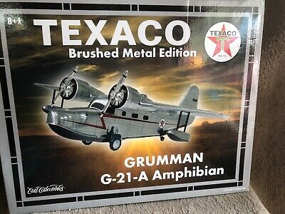 Wings Of Texaco Grumman G-21-A Amphibian Brushed Metal Edition Ertl Diecast