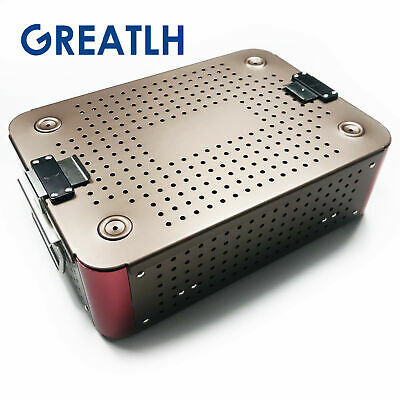 sterilization tray case Aluminium dental ophthalmic disfection box two Layer