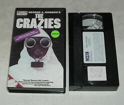 VHS TAPE in CLAM SHELL CASE - GEORGE ROMERO The CRAZIES HORROR CLASSIC