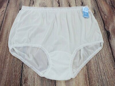 Vintage Dixie Belle Panties White Ful Coverage Briefs Granny Panty Size 12 NWT
