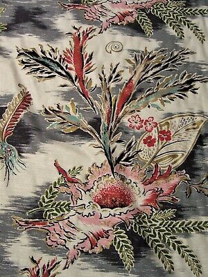 """fabric new 55""""x16yd cotton med weight Palm Beach MCM nubby lg repeat textile USA"""