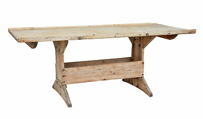 Mid 19Th Century Scandinavian Pine Bakers Table