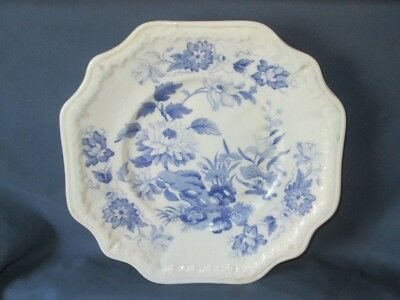 Antique Victorian Blue & White Floral Design Plate